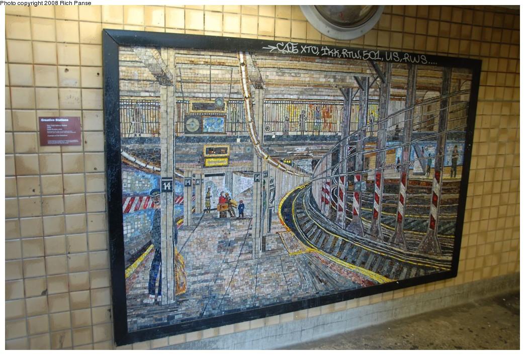 (260k, 1044x706)<br><b>Country:</b> United States<br><b>City:</b> New York<br><b>System:</b> New York City Transit<br><b>Line:</b> IND 8th Avenue Line<br><b>Location:</b> Spring Street <br><b>Photo by:</b> Richard Panse<br><b>Date:</b> 9/25/2008<br><b>Artwork:</b> <i>New York Subway Station</i>, Edith Kramer (1994).<br><b>Viewed (this week/total):</b> 0 / 2234