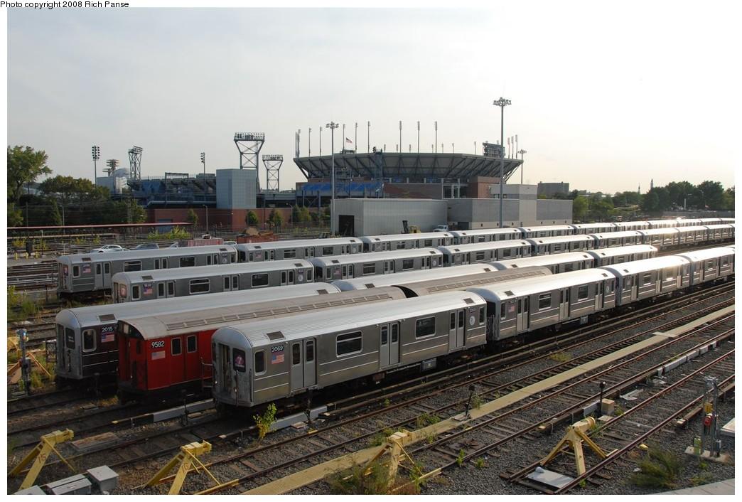 (200k, 1044x706)<br><b>Country:</b> United States<br><b>City:</b> New York<br><b>System:</b> New York City Transit<br><b>Location:</b> Corona Yard<br><b>Car:</b> R-62A (Bombardier, 1984-1987)  2069 <br><b>Photo by:</b> Richard Panse<br><b>Date:</b> 9/24/2008<br><b>Notes:</b> With 9502<br><b>Viewed (this week/total):</b> 2 / 1760