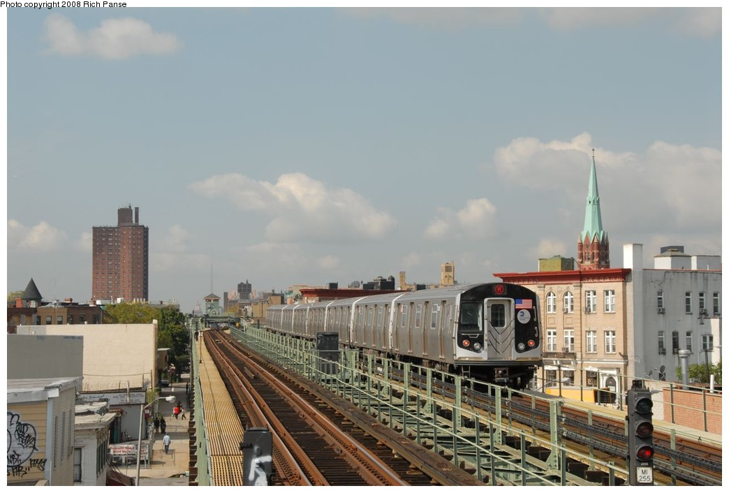(180k, 1044x706)<br><b>Country:</b> United States<br><b>City:</b> New York<br><b>System:</b> New York City Transit<br><b>Line:</b> BMT Myrtle Avenue Line<br><b>Location:</b> Central Avenue <br><b>Route:</b> M<br><b>Car:</b> R-160A-1 (Alstom, 2005-2008, 4 car sets)  8632 <br><b>Photo by:</b> Richard Panse<br><b>Date:</b> 9/30/2008<br><b>Viewed (this week/total):</b> 0 / 2040