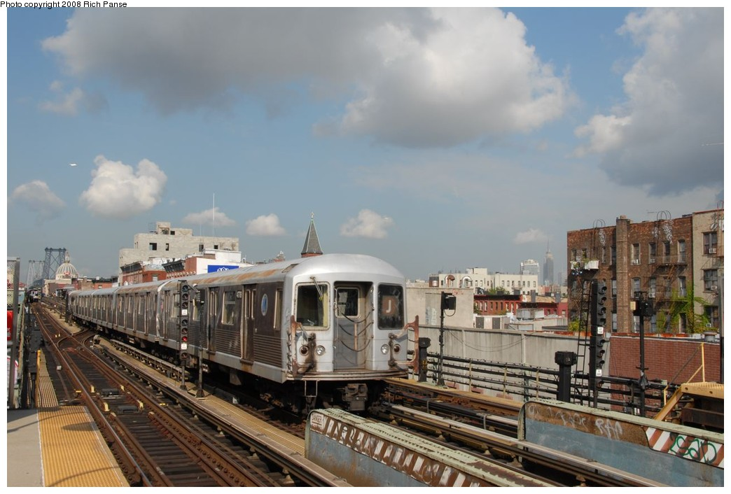 (194k, 1044x706)<br><b>Country:</b> United States<br><b>City:</b> New York<br><b>System:</b> New York City Transit<br><b>Line:</b> BMT Nassau Street/Jamaica Line<br><b>Location:</b> Hewes Street <br><b>Route:</b> J<br><b>Car:</b> R-42 (St. Louis, 1969-1970)  4778 <br><b>Photo by:</b> Richard Panse<br><b>Date:</b> 9/30/2008<br><b>Viewed (this week/total):</b> 0 / 1104