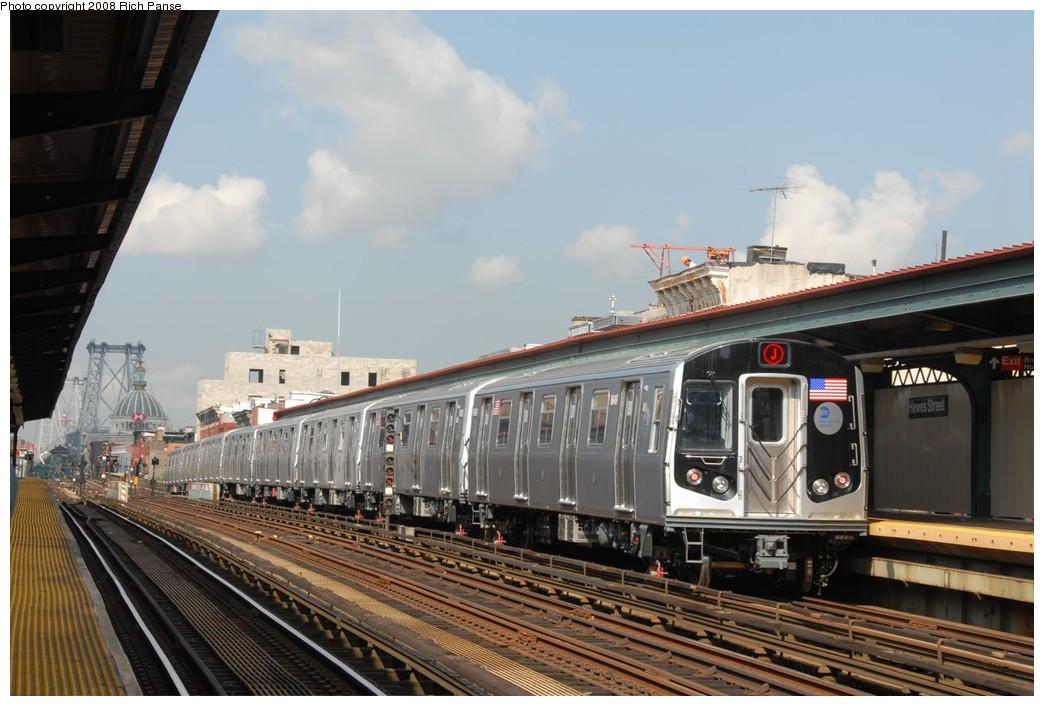 (201k, 1044x706)<br><b>Country:</b> United States<br><b>City:</b> New York<br><b>System:</b> New York City Transit<br><b>Line:</b> BMT Nassau Street/Jamaica Line<br><b>Location:</b> Hewes Street <br><b>Route:</b> Testing<br><b>Car:</b> R-160A-1 (Alstom, 2005-2008, 4 car sets)  8649 <br><b>Photo by:</b> Richard Panse<br><b>Date:</b> 9/30/2008<br><b>Viewed (this week/total):</b> 0 / 1248