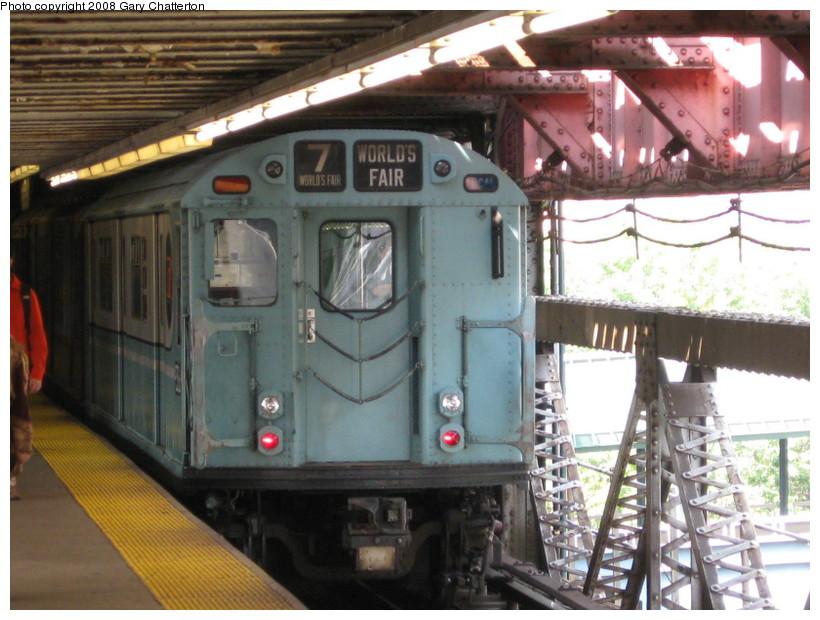 (145k, 820x620)<br><b>Country:</b> United States<br><b>City:</b> New York<br><b>System:</b> New York City Transit<br><b>Line:</b> IRT Flushing Line<br><b>Location:</b> Queensborough Plaza <br><b>Car:</b> R-33 World's Fair (St. Louis, 1963-64) 9306 <br><b>Photo by:</b> Gary Chatterton<br><b>Date:</b> 10/9/2008<br><b>Viewed (this week/total):</b> 0 / 2168