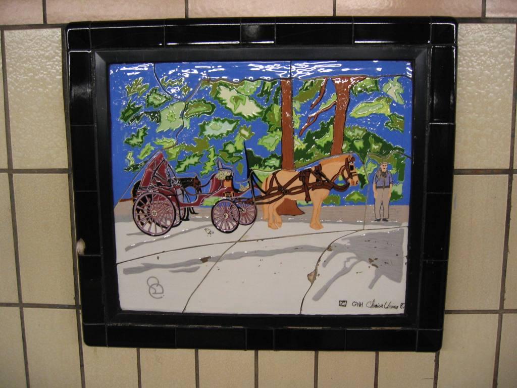 (111k, 1024x768)<br><b>Country:</b> United States<br><b>City:</b> New York<br><b>System:</b> New York City Transit<br><b>Line:</b> IRT West Side Line<br><b>Location:</b> 86th Street <br><b>Photo by:</b> Robbie Rosenfeld<br><b>Date:</b> 5/4/2005<br><b>Artwork:</b> <i>Westside Views</i>, Nitza Tufino (1989).<br><b>Viewed (this week/total):</b> 5 / 1208