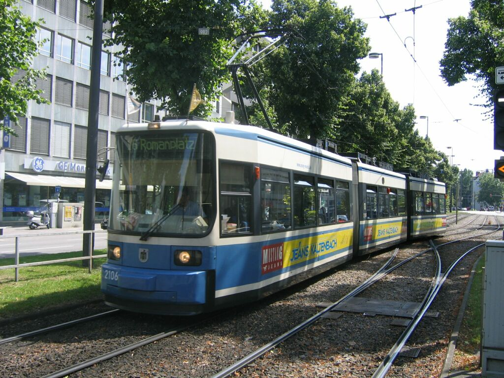 (203k, 1024x768)<br><b>Country:</b> Germany<br><b>City:</b> Munich<br><b>System:</b> MVG (Munchener Verkehrsgesellschaft)<br><b>Location:</b> Sonnenstrasse <br><b>Route:</b> 16<br><b>Car:</b> Siemens GT6N R2.2  2106 <br><b>Photo by:</b> Jos Straathof<br><b>Date:</b> 8/14/2008<br><b>Viewed (this week/total):</b> 0 / 509