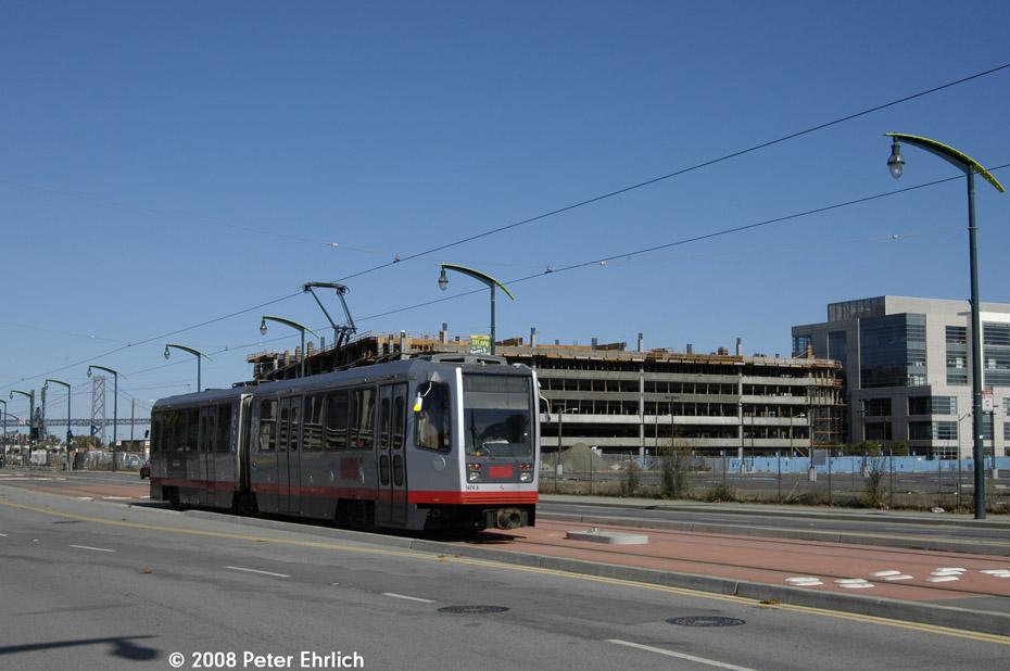 (153k, 930x618)<br><b>Country:</b> United States<br><b>City:</b> San Francisco/Bay Area, CA<br><b>System:</b> SF MUNI<br><b>Line:</b> MUNI 3rd Street Light Rail<br><b>Location:</b> 3rd Street/16th Street <br><b>Car:</b> SF MUNI Breda LRV 1474 <br><b>Photo by:</b> Peter Ehrlich<br><b>Date:</b> 11/9/2008<br><b>Notes:</b> 3rd/16th Street, inbound.<br><b>Viewed (this week/total):</b> 0 / 539