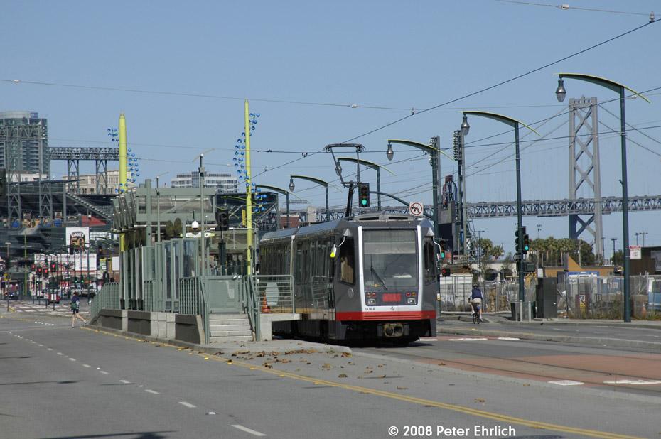 (189k, 930x618)<br><b>Country:</b> United States<br><b>City:</b> San Francisco/Bay Area, CA<br><b>System:</b> SF MUNI<br><b>Line:</b> MUNI 3rd Street Light Rail<br><b>Location:</b> <b><u>UCSF/Mission Bay</u></b> <br><b>Car:</b> SF MUNI Breda LRV 1474 <br><b>Photo by:</b> Peter Ehrlich<br><b>Date:</b> 11/9/2008<br><b>Notes:</b> UCSF/Mission Bay Station, inbound.<br><b>Viewed (this week/total):</b> 0 / 518