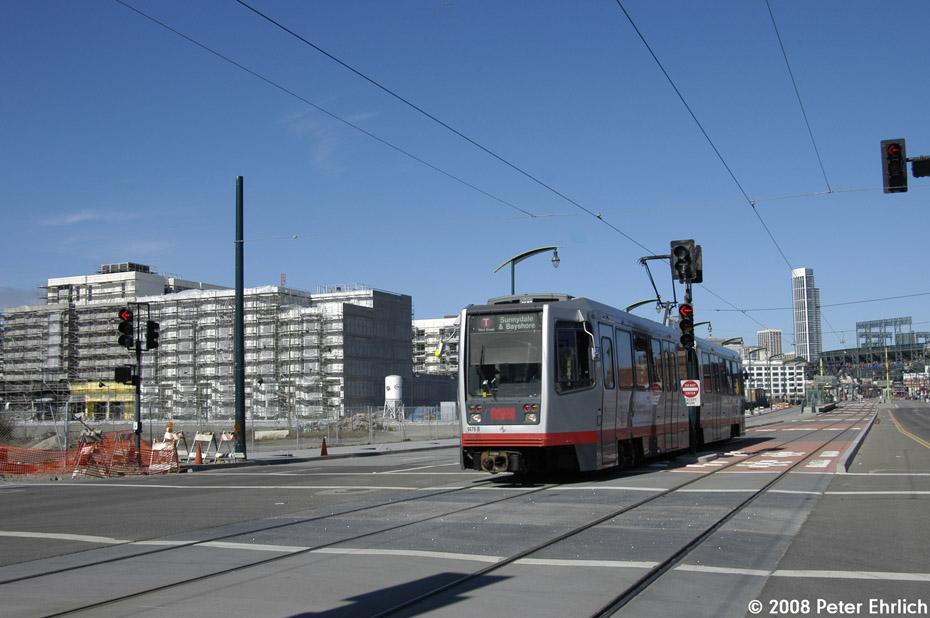 (171k, 930x618)<br><b>Country:</b> United States<br><b>City:</b> San Francisco/Bay Area, CA<br><b>System:</b> SF MUNI<br><b>Line:</b> MUNI 3rd Street Light Rail<br><b>Location:</b> <b><u>UCSF/Mission Bay</u></b> <br><b>Car:</b> SF MUNI Breda LRV 1476 <br><b>Photo by:</b> Peter Ehrlich<br><b>Date:</b> 11/9/2008<br><b>Notes:</b> 3rd Street/Mission Bay Blvd., inbound.<br><b>Viewed (this week/total):</b> 0 / 710