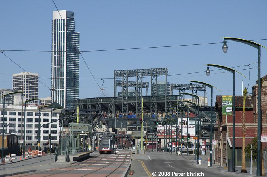 (222k, 930x618)<br><b>Country:</b> United States<br><b>City:</b> San Francisco/Bay Area, CA<br><b>System:</b> SF MUNI<br><b>Line:</b> MUNI 3rd Street Light Rail<br><b>Location:</b> <b><u>Mission Rock St.</u></b> <br><b>Car:</b> SF MUNI Breda LRV 1476 <br><b>Photo by:</b> Peter Ehrlich<br><b>Date:</b> 11/9/2008<br><b>Notes:</b> Approaching Mission Rock Station, inbound.<br><b>Viewed (this week/total):</b> 0 / 598