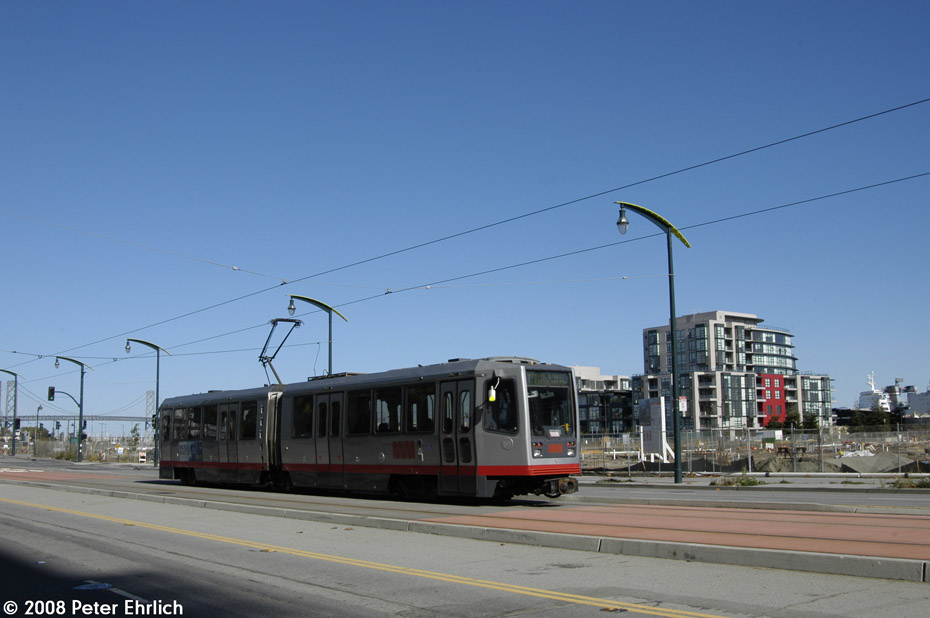 (140k, 930x618)<br><b>Country:</b> United States<br><b>City:</b> San Francisco/Bay Area, CA<br><b>System:</b> SF MUNI<br><b>Line:</b> MUNI 3rd Street Light Rail<br><b>Location:</b> <b><u>UCSF/Mission Bay</u></b> <br><b>Car:</b> SF MUNI Breda LRV 1484 <br><b>Photo by:</b> Peter Ehrlich<br><b>Date:</b> 11/9/2008<br><b>Notes:</b> 3rd Street/Mission Bay Blvd., outbound.<br><b>Viewed (this week/total):</b> 0 / 516