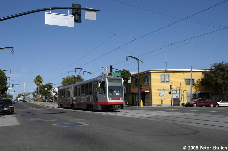 (162k, 930x618)<br><b>Country:</b> United States<br><b>City:</b> San Francisco/Bay Area, CA<br><b>System:</b> SF MUNI<br><b>Line:</b> MUNI 3rd Street Light Rail<br><b>Location:</b> 3rd Street/Thornton/Thomas <br><b>Car:</b> SF MUNI Breda LRV 1490 <br><b>Photo by:</b> Peter Ehrlich<br><b>Date:</b> 11/9/2008<br><b>Notes:</b> 3rd/Thornton/Thomas, inbound.<br><b>Viewed (this week/total):</b> 0 / 409