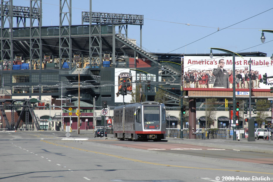 (243k, 930x621)<br><b>Country:</b> United States<br><b>City:</b> San Francisco/Bay Area, CA<br><b>System:</b> SF MUNI<br><b>Line:</b> MUNI 3rd Street Light Rail<br><b>Location:</b> Channel/3rd <br><b>Car:</b> SF MUNI Breda LRV 1520 <br><b>Photo by:</b> Peter Ehrlich<br><b>Date:</b> 11/9/2008<br><b>Notes:</b> 3rd/Channel, outbound.<br><b>Viewed (this week/total):</b> 0 / 533