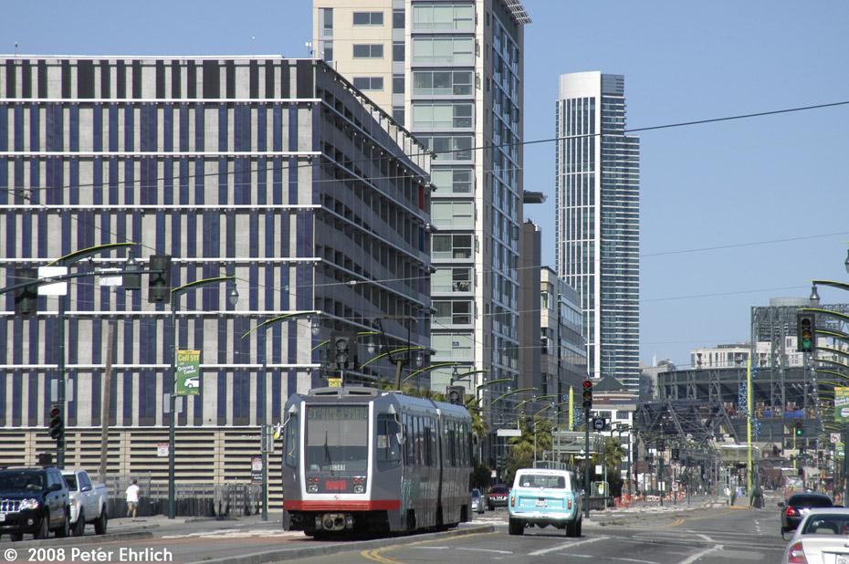 (249k, 930x618)<br><b>Country:</b> United States<br><b>City:</b> San Francisco/Bay Area, CA<br><b>System:</b> SF MUNI<br><b>Line:</b> MUNI 3rd Street Light Rail<br><b>Location:</b> 3rd Street/16th Street <br><b>Car:</b> SF MUNI Breda LRV 1534 <br><b>Photo by:</b> Peter Ehrlich<br><b>Date:</b> 11/9/2008<br><b>Notes:</b> 3rd/16th Streets, outbound.<br><b>Viewed (this week/total):</b> 1 / 524