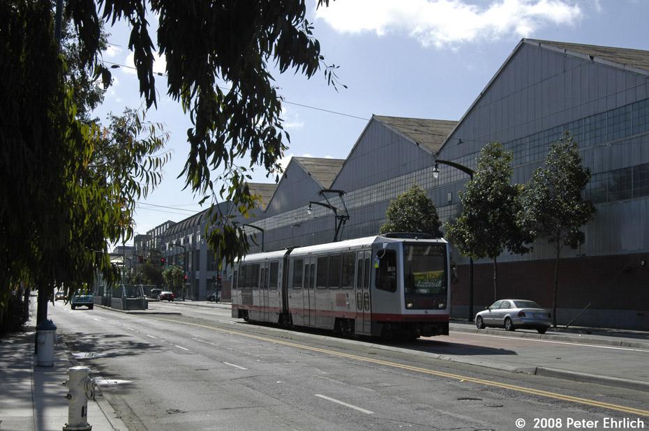 (226k, 930x618)<br><b>Country:</b> United States<br><b>City:</b> San Francisco/Bay Area, CA<br><b>System:</b> SF MUNI<br><b>Line:</b> MUNI 3rd Street Light Rail<br><b>Location:</b> <b><u>Mariposa St.</u></b> <br><b>Car:</b> SF MUNI Breda LRV 1534 <br><b>Photo by:</b> Peter Ehrlich<br><b>Date:</b> 11/9/2008<br><b>Notes:</b> Mariposa Station, outbound.<br><b>Viewed (this week/total):</b> 2 / 475