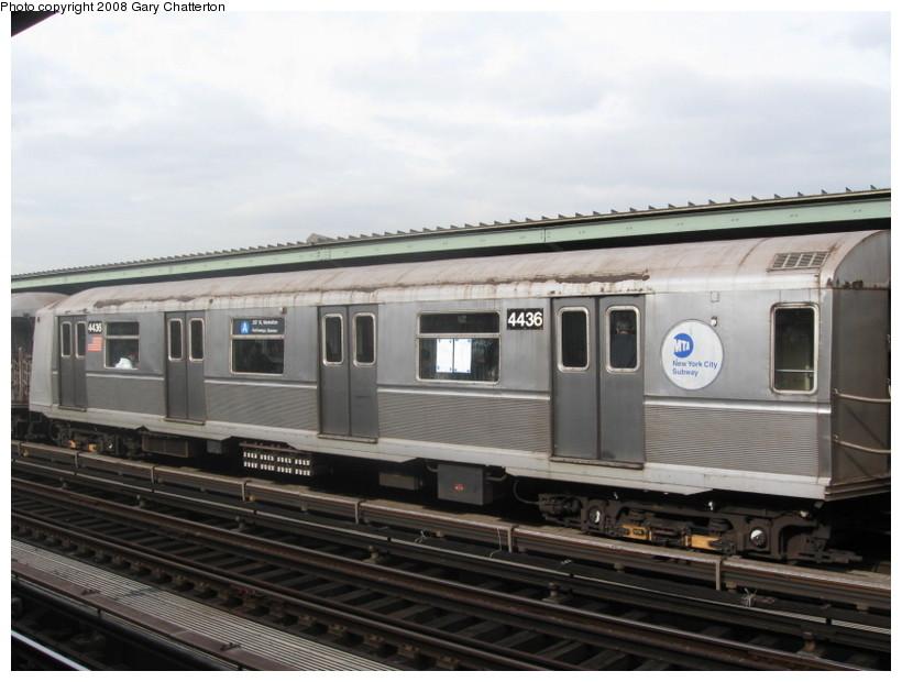 (113k, 820x620)<br><b>Country:</b> United States<br><b>City:</b> New York<br><b>System:</b> New York City Transit<br><b>Line:</b> IND Fulton Street Line<br><b>Location:</b> 80th Street/Hudson Street <br><b>Route:</b> A<br><b>Car:</b> R-40 (St. Louis, 1968)  4436 <br><b>Photo by:</b> Gary Chatterton<br><b>Date:</b> 11/12/2008<br><b>Viewed (this week/total):</b> 1 / 1388