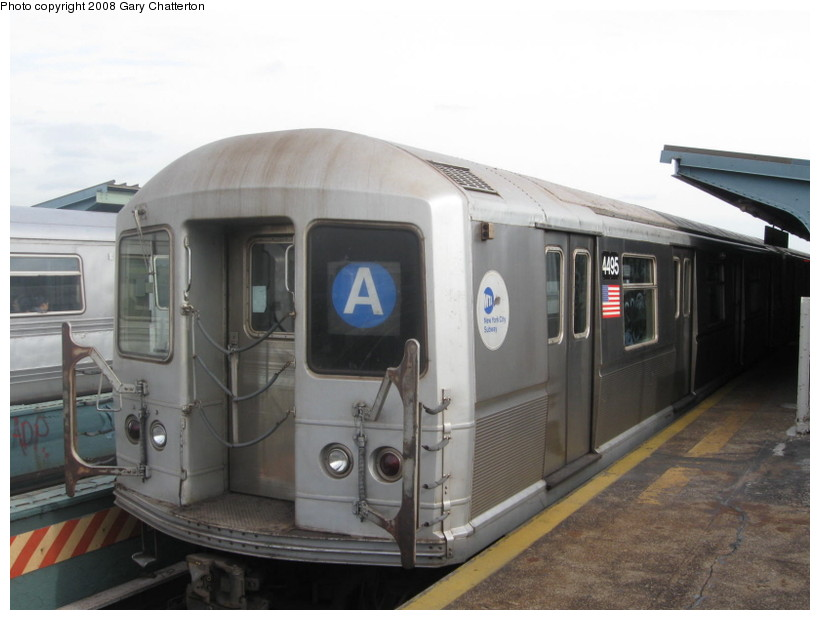 (102k, 820x620)<br><b>Country:</b> United States<br><b>City:</b> New York<br><b>System:</b> New York City Transit<br><b>Line:</b> IND Fulton Street Line<br><b>Location:</b> 80th Street/Hudson Street <br><b>Route:</b> A<br><b>Car:</b> R-40M (St. Louis, 1969)  4495 <br><b>Photo by:</b> Gary Chatterton<br><b>Date:</b> 11/12/2008<br><b>Viewed (this week/total):</b> 2 / 1470