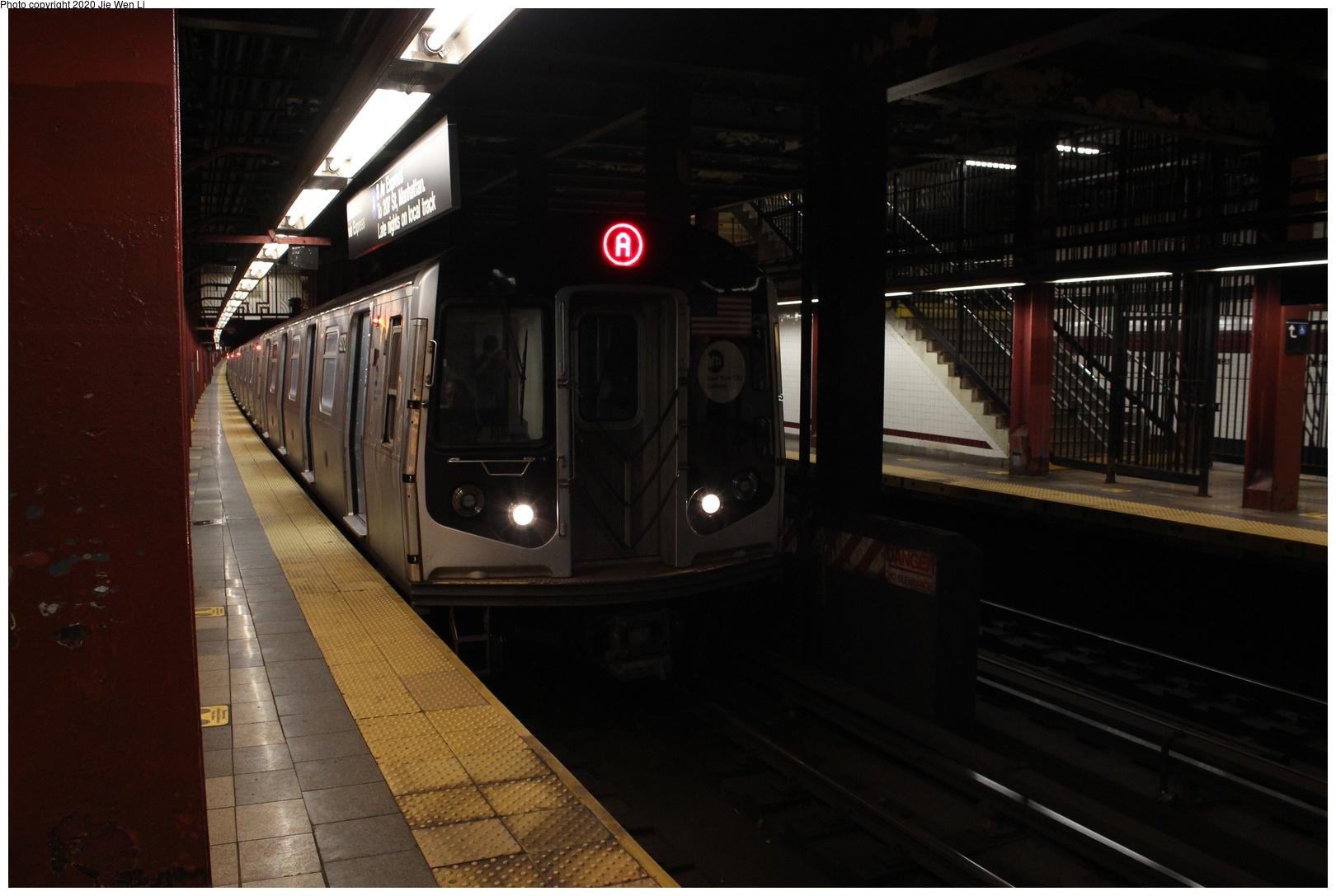 (221k, 1044x1041)<br><b>Country:</b> United States<br><b>City:</b> New York<br><b>System:</b> New York City Transit<br><b>Line:</b> BMT Canarsie Line<br><b>Location:</b> Rockaway Parkway <br><b>Route:</b> BMT 16<br><b>Car:</b> R-10 (American Car & Foundry, 1948)  <br><b>Photo by:</b> Joel Shanus<br><b>Viewed (this week/total):</b> 1 / 2621