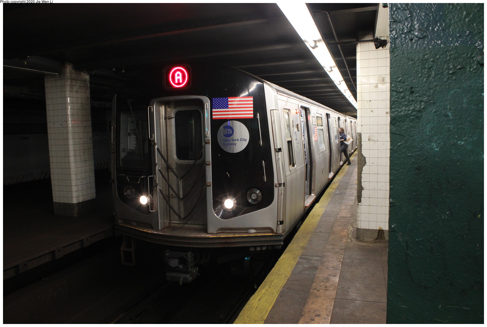 (323k, 1044x1036)<br><b>Country:</b> United States<br><b>City:</b> New York<br><b>System:</b> New York City Transit<br><b>Line:</b> BMT Fulton<br><b>Location:</b> Broadway Junction <br><b>Route:</b> Work Service<br><b>Car:</b> BMT C  <br><b>Photo by:</b> Joel Shanus<br><b>Notes:</b> Fulton El at Broadway Junction, view from southbound Canarsie Line platform toward Rockaway Ave. El service cut back to Rockaway Ave 7/1/1940; based on automobiles in photo, probably taken in early 1956 just prior to April 1956 abandonment.<br><b>Viewed (this week/total):</b> 0 / 2983