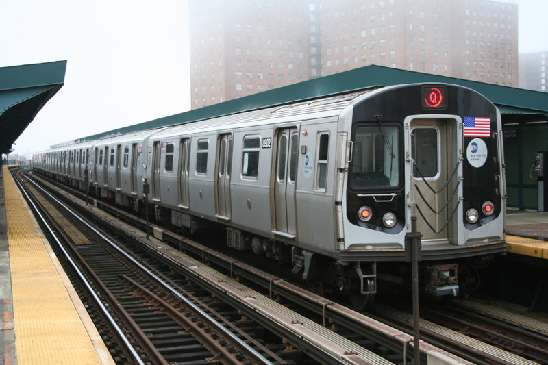 (136k, 800x533)<br><b>Country:</b> United States<br><b>City:</b> New York<br><b>System:</b> New York City Transit<br><b>Line:</b> BMT Brighton Line<br><b>Location:</b> West 8th Street <br><b>Route:</b> Q<br><b>Car:</b> R-160B (Kawasaki, 2005-2008)  8902 <br><b>Photo by:</b> Neil Feldman<br><b>Date:</b> 11/14/2008<br><b>Viewed (this week/total):</b> 2 / 1975