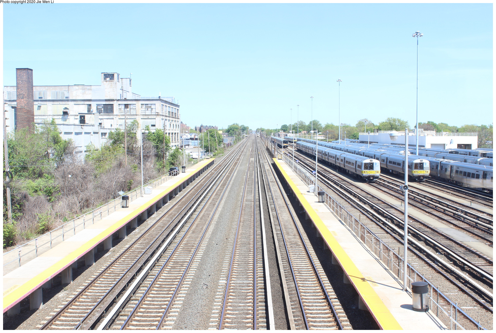 (877k, 1620x1087)<br><b>Country:</b> United States<br><b>City:</b> New York<br><b>System:</b> Long Island Rail Road<br><b>Location:</b> LIRR Holban-Hillside Maint. Complex/Yard<br><b>Photo by:</b> Jie Wen Li<br><b>Date:</b> 5/11/2019<br><b>Notes:</b> Shop tour sponsored by ERA. Overpass view towards Hollis.<br><b>Viewed (this week/total):</b> 3 / 51
