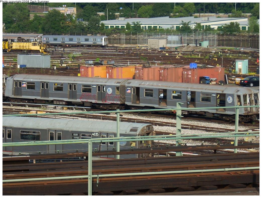 (349k, 1044x788)<br><b>Country:</b> United States<br><b>City:</b> New York<br><b>System:</b> New York City Transit<br><b>Location:</b> 207th Street Yard<br><b>Car:</b> R-40 (St. Louis, 1968)  4168/4169 <br><b>Photo by:</b> Zach Summer<br><b>Date:</b> 8/2/2008<br><b>Viewed (this week/total):</b> 0 / 1226