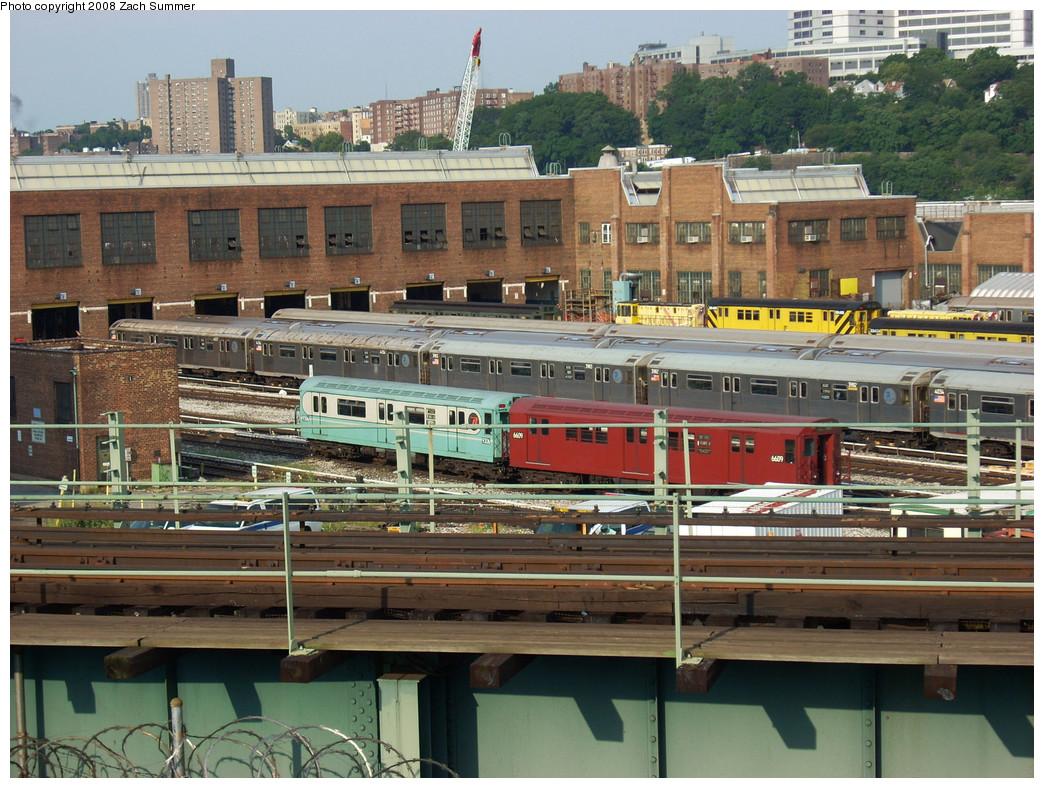 (335k, 1044x788)<br><b>Country:</b> United States<br><b>City:</b> New York<br><b>System:</b> New York City Transit<br><b>Location:</b> 207th Street Yard<br><b>Car:</b> R-33 World's Fair (St. Louis, 1963-64) 9306 <br><b>Photo by:</b> Zach Summer<br><b>Date:</b> 8/2/2008<br><b>Notes:</b> With R17 6609<br><b>Viewed (this week/total):</b> 2 / 991