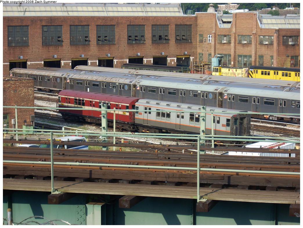 (339k, 1044x788)<br><b>Country:</b> United States<br><b>City:</b> New York<br><b>System:</b> New York City Transit<br><b>Location:</b> 207th Street Yard<br><b>Car:</b> R-15 (American Car & Foundry, 1950) 6235 <br><b>Photo by:</b> Zach Summer<br><b>Date:</b> 8/2/2008<br><b>Notes:</b> With R12 5760<br><b>Viewed (this week/total):</b> 1 / 1154