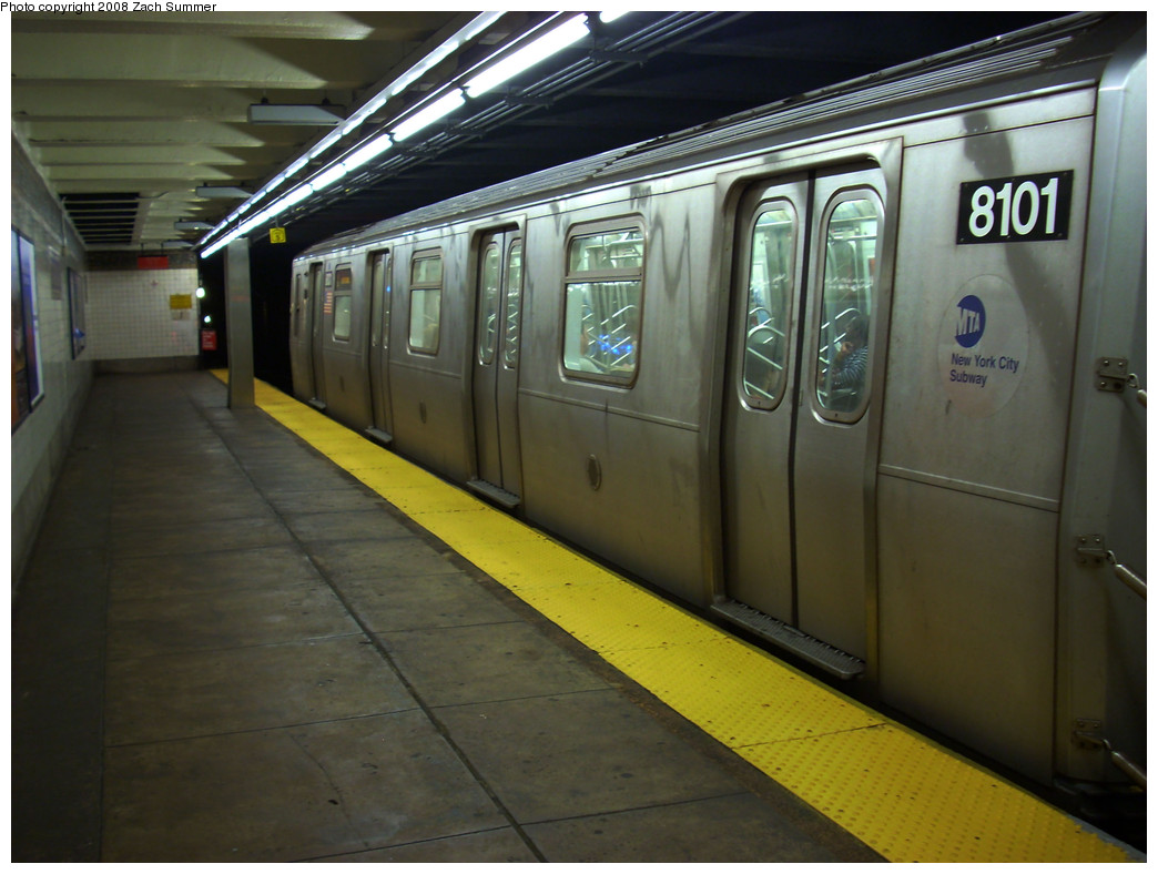 (237k, 1044x788)<br><b>Country:</b> United States<br><b>City:</b> New York<br><b>System:</b> New York City Transit<br><b>Line:</b> BMT Canarsie Line<br><b>Location:</b> 3rd Avenue <br><b>Route:</b> L<br><b>Car:</b> R-143 (Kawasaki, 2001-2002) 8101 <br><b>Photo by:</b> Zach Summer<br><b>Date:</b> 8/5/2008<br><b>Viewed (this week/total):</b> 0 / 1820