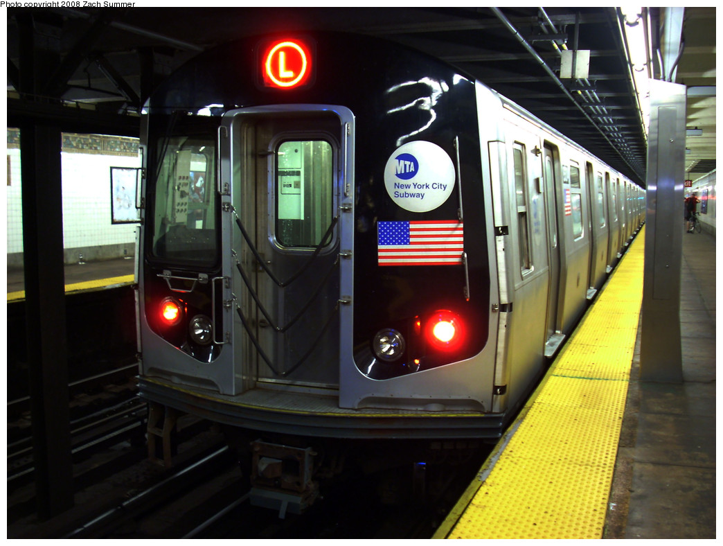 (245k, 1044x788)<br><b>Country:</b> United States<br><b>City:</b> New York<br><b>System:</b> New York City Transit<br><b>Line:</b> BMT Canarsie Line<br><b>Location:</b> 3rd Avenue <br><b>Route:</b> L<br><b>Car:</b> R-143 (Kawasaki, 2001-2002) 8304 <br><b>Photo by:</b> Zach Summer<br><b>Date:</b> 8/5/2008<br><b>Viewed (this week/total):</b> 4 / 1947