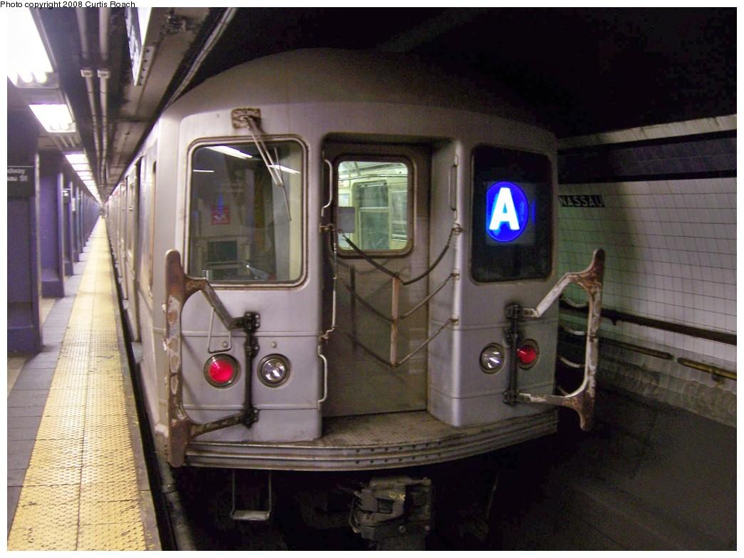 (192k, 1044x783)<br><b>Country:</b> United States<br><b>City:</b> New York<br><b>System:</b> New York City Transit<br><b>Line:</b> IND 8th Avenue Line<br><b>Location:</b> Fulton Street (Broadway/Nassau) <br><b>Route:</b> A<br><b>Car:</b> R-40M (St. Louis, 1969)  4484 <br><b>Photo by:</b> Curtis Roach<br><b>Date:</b> 12/7/2008<br><b>Viewed (this week/total):</b> 0 / 2491
