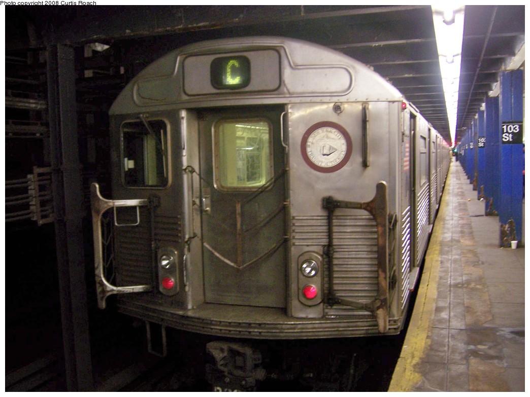 (186k, 1044x783)<br><b>Country:</b> United States<br><b>City:</b> New York<br><b>System:</b> New York City Transit<br><b>Line:</b> IND 8th Avenue Line<br><b>Location:</b> 103rd Street <br><b>Route:</b> C<br><b>Car:</b> R-38 (St. Louis, 1966-1967)  4013 <br><b>Photo by:</b> Curtis Roach<br><b>Date:</b> 12/7/2008<br><b>Viewed (this week/total):</b> 3 / 2428