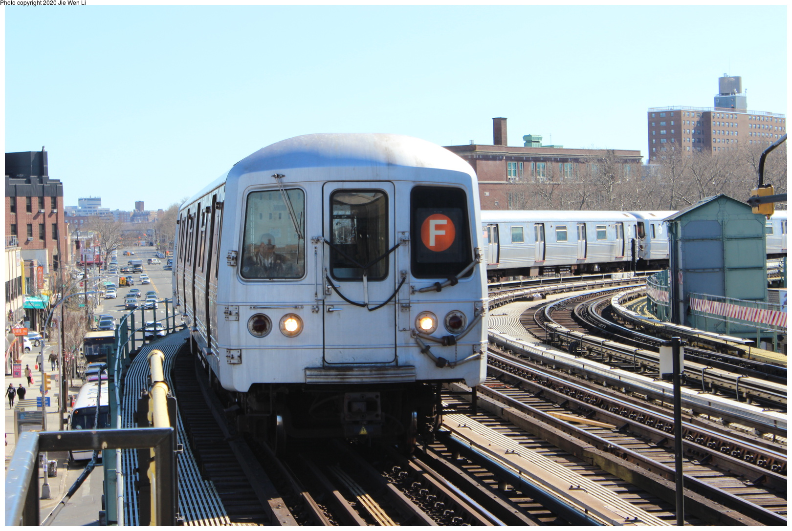 (257k, 1044x706)<br><b>Country:</b> United States<br><b>City:</b> New York<br><b>System:</b> New York City Transit<br><b>Location:</b> 239th Street Yard<br><b>Car:</b> Low-V  <br><b>Photo by:</b> Joel Shanus<br><b>Notes:</b> View facing east; shop building to the right, Furman Ave to photographer's back.<br><b>Viewed (this week/total):</b> 2 / 1577