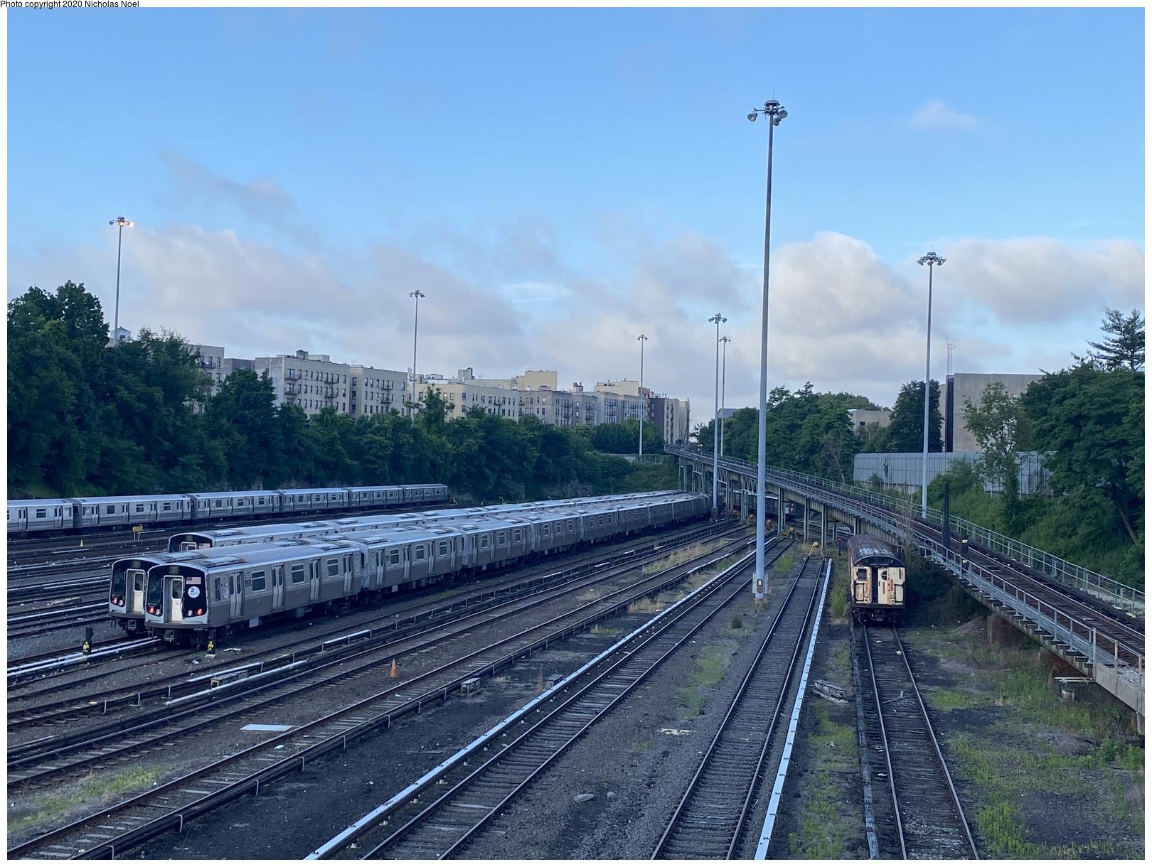 (200k, 1044x726)<br><b>Country:</b> United States<br><b>City:</b> New York<br><b>System:</b> New York City Transit<br><b>Location:</b> Coney Island Yard<br><b>Car:</b> Low-V 5535 <br><b>Photo by:</b> Joel Shanus<br><b>Notes:</b> Work motor 20240<br><b>Viewed (this week/total):</b> 1 / 938