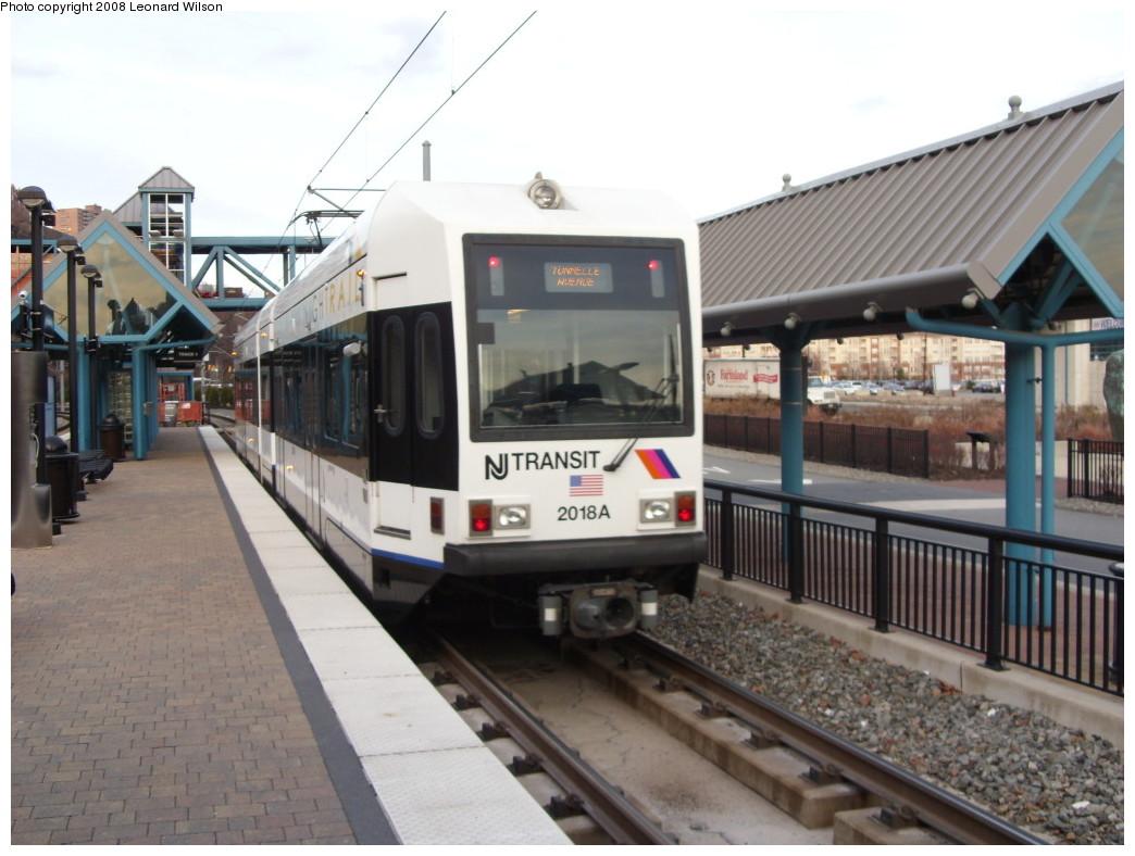 (225k, 1044x788)<br><b>Country:</b> United States<br><b>City:</b> Weehawken, NJ<br><b>System:</b> Hudson Bergen Light Rail<br><b>Location:</b> Port Imperial <br><b>Car:</b> NJT-HBLR LRV (Kinki-Sharyo, 1998-99)  2018 <br><b>Photo by:</b> Leonard Wilson<br><b>Date:</b> 12/5/2008<br><b>Viewed (this week/total):</b> 2 / 782