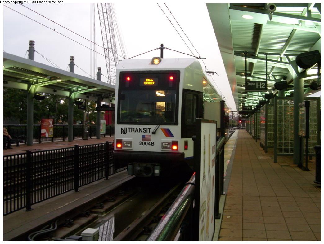 (244k, 1044x788)<br><b>Country:</b> United States<br><b>City:</b> Hoboken, NJ<br><b>System:</b> Hudson Bergen Light Rail<br><b>Location:</b> Hoboken <br><b>Car:</b> NJT-HBLR LRV (Kinki-Sharyo, 1998-99)  2004 <br><b>Photo by:</b> Leonard Wilson<br><b>Date:</b> 8/15/2008<br><b>Viewed (this week/total):</b> 0 / 584