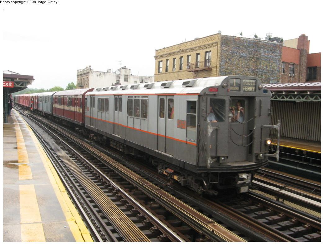(220k, 1044x788)<br><b>Country:</b> United States<br><b>City:</b> New York<br><b>System:</b> New York City Transit<br><b>Line:</b> IRT West Side Line<br><b>Location:</b> 238th Street <br><b>Route:</b> Transit Museum Nostalgia Train<br><b>Car:</b> R-12 (American Car & Foundry, 1948) 5760 <br><b>Photo by:</b> Jorge Catayi<br><b>Date:</b> 8/2/2008<br><b>Viewed (this week/total):</b> 0 / 1281