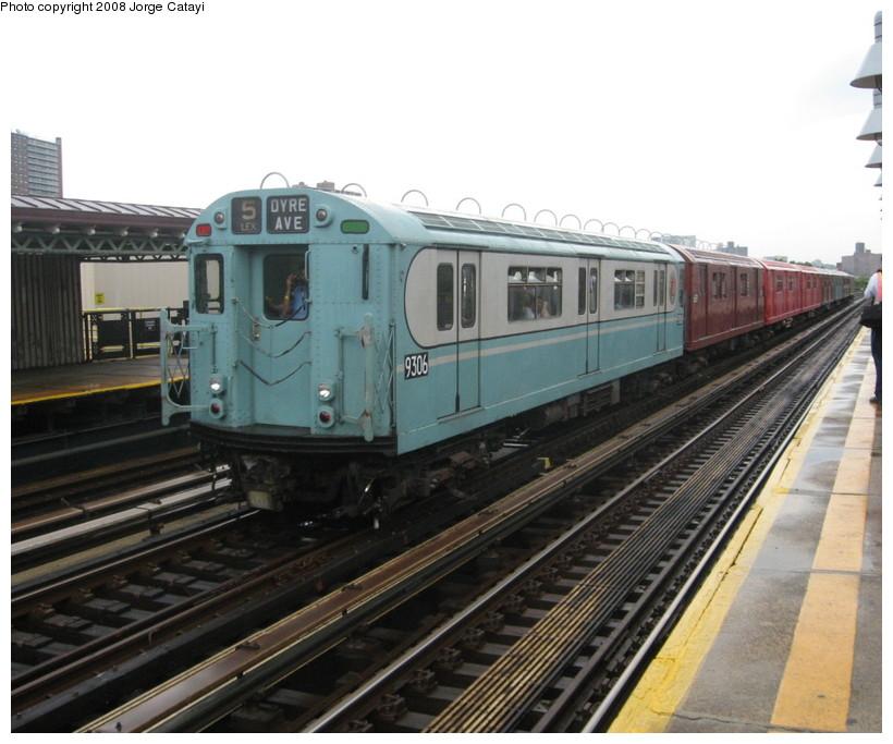 (135k, 820x683)<br><b>Country:</b> United States<br><b>City:</b> New York<br><b>System:</b> New York City Transit<br><b>Line:</b> IRT West Side Line<br><b>Location:</b> 238th Street <br><b>Route:</b> Transit Museum Nostalgia Train<br><b>Car:</b> R-33 World's Fair (St. Louis, 1963-64) 9306 <br><b>Photo by:</b> Jorge Catayi<br><b>Date:</b> 8/2/2008<br><b>Viewed (this week/total):</b> 0 / 1034