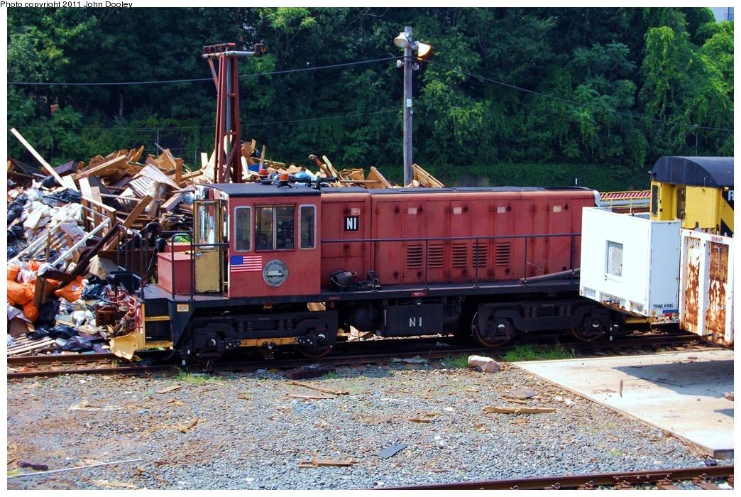 (430k, 1044x700)<br><b>Country:</b> United States<br><b>City:</b> New York<br><b>System:</b> New York City Transit<br><b>Location:</b> 36th Street Yard<br><b>Route:</b> Work Service<br><b>Car:</b> R-47 (SBK) Locomotive  N1 <br><b>Photo by:</b> John Dooley<br><b>Date:</b> 8/7/2011<br><b>Viewed (this week/total):</b> 0 / 876