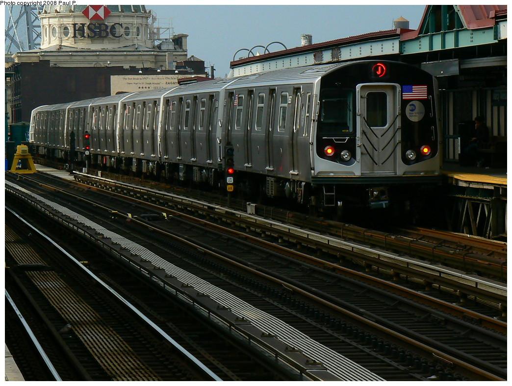 (281k, 1044x788)<br><b>Country:</b> United States<br><b>City:</b> New York<br><b>System:</b> New York City Transit<br><b>Line:</b> BMT Nassau Street/Jamaica Line<br><b>Location:</b> Marcy Avenue <br><b>Route:</b> J<br><b>Car:</b> R-160A-1 (Alstom, 2005-2008, 4 car sets)  8557 <br><b>Photo by:</b> Paul P.<br><b>Date:</b> 11/1/2008<br><b>Viewed (this week/total):</b> 0 / 1525