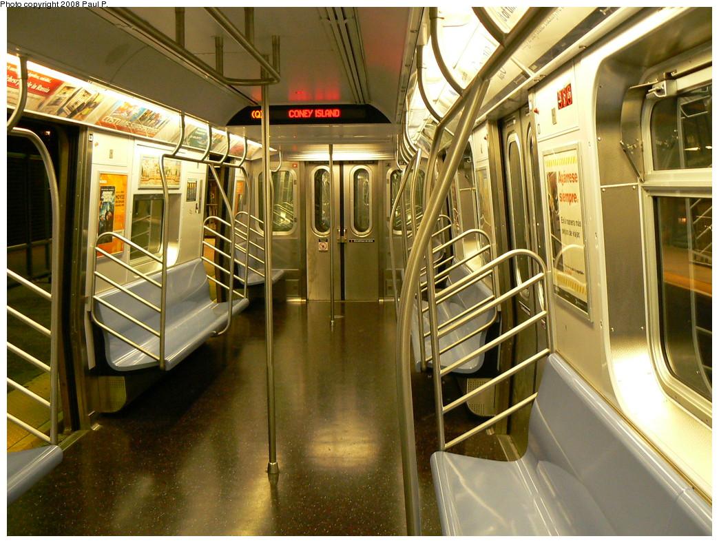 (300k, 1044x788)<br><b>Country:</b> United States<br><b>City:</b> New York<br><b>System:</b> New York City Transit<br><b>Route:</b> Q<br><b>Car:</b> R-160B (Kawasaki, 2005-2008)  8726 <br><b>Photo by:</b> Paul P.<br><b>Date:</b> 11/1/2008<br><b>Viewed (this week/total):</b> 0 / 1116