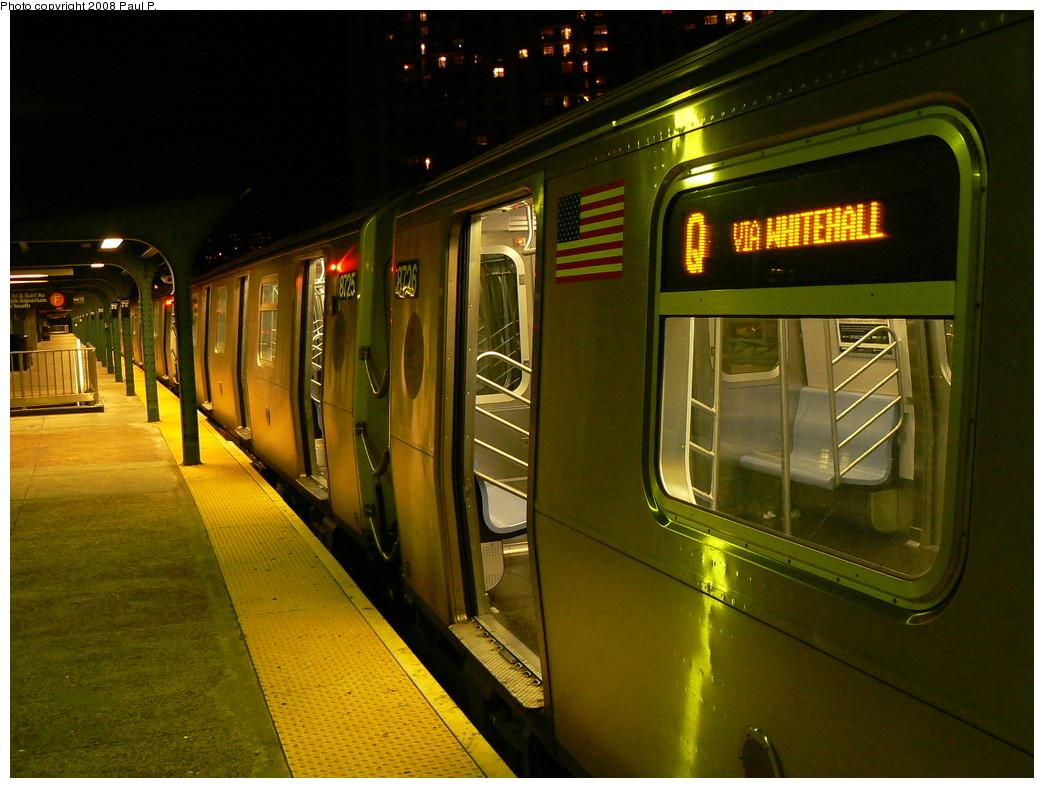 (251k, 1044x788)<br><b>Country:</b> United States<br><b>City:</b> New York<br><b>System:</b> New York City Transit<br><b>Line:</b> BMT Brighton Line<br><b>Location:</b> West 8th Street <br><b>Route:</b> Q<br><b>Car:</b> R-160B (Kawasaki, 2005-2008)  8726 <br><b>Photo by:</b> Paul P.<br><b>Date:</b> 11/1/2008<br><b>Viewed (this week/total):</b> 1 / 1888