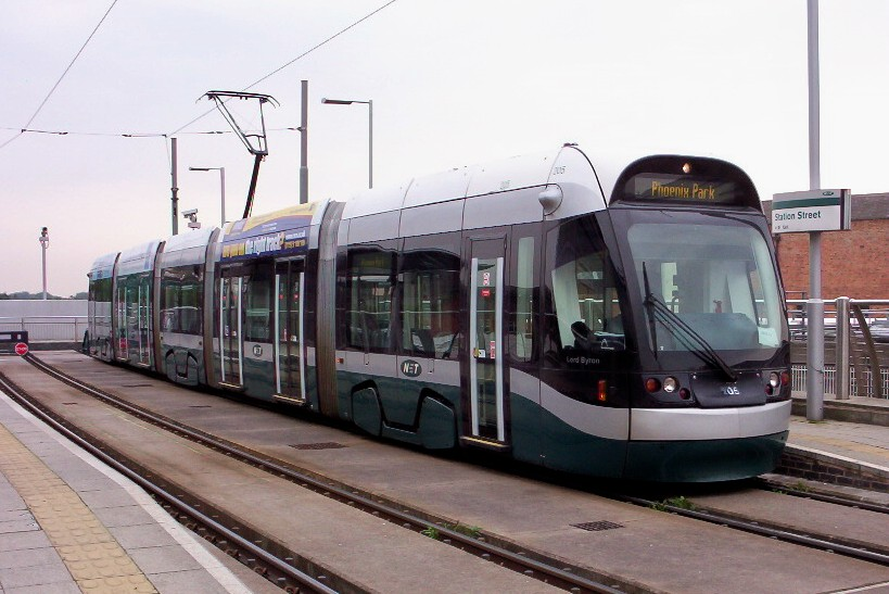 (127k, 819x547)<br><b>Country:</b> United Kingdom<br><b>City:</b> Nottingham<br><b>System:</b> Nottingham Express Transit<br><b>Location:</b> Station Street <br><b>Car:</b> Bombardier Incentro 205 Lord Byron <br><b>Photo by:</b> Dave Carson<br><b>Date:</b> 9/17/2008<br><b>Viewed (this week/total):</b> 0 / 715