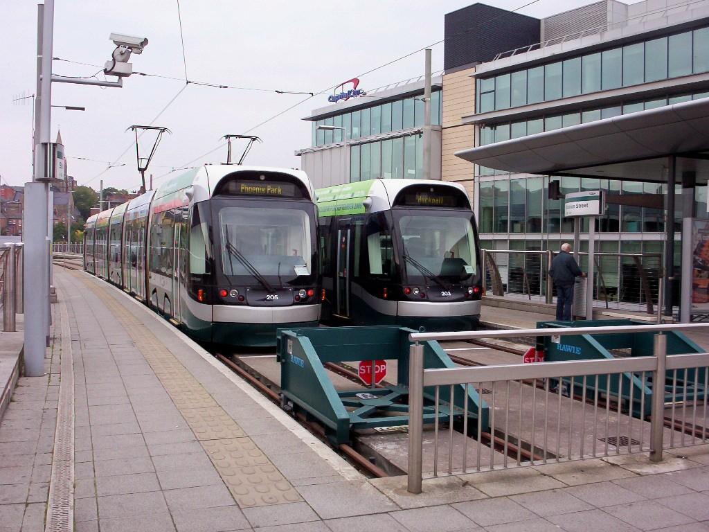 (238k, 1024x768)<br><b>Country:</b> United Kingdom<br><b>City:</b> Nottingham<br><b>System:</b> Nottingham Express Transit<br><b>Location:</b> Station Street <br><b>Car:</b> Bombardier Incentro 205/203 <br><b>Photo by:</b> Dave Carson<br><b>Date:</b> 9/17/2008<br><b>Viewed (this week/total):</b> 2 / 776