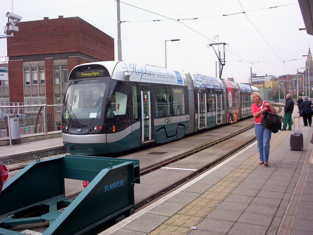(229k, 1024x768)<br><b>Country:</b> United Kingdom<br><b>City:</b> Nottingham<br><b>System:</b> Nottingham Express Transit<br><b>Location:</b> Station Street <br><b>Car:</b> Bombardier Incentro 206 <br><b>Photo by:</b> Dave Carson<br><b>Date:</b> 9/17/2008<br><b>Viewed (this week/total):</b> 0 / 614