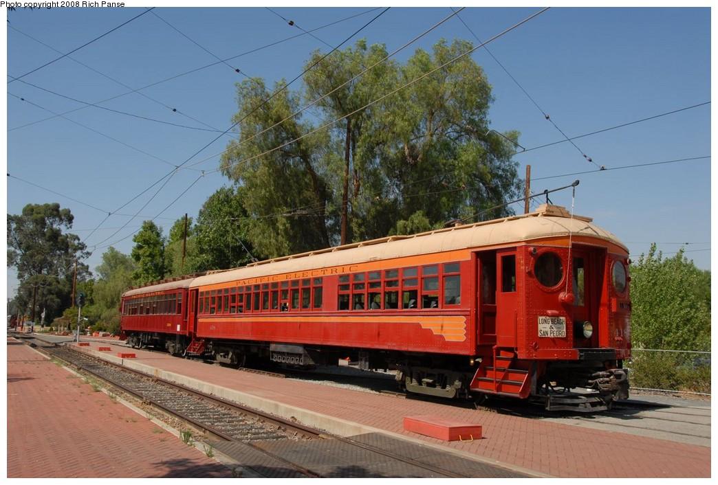 (228k, 1044x706)<br><b>Country:</b> United States<br><b>City:</b> Perris, CA<br><b>System:</b> Orange Empire Railway Museum <br><b>Car:</b> Pacific Electric Blimp Interurban (Pullman, 1913)  418 <br><b>Photo by:</b> Richard Panse<br><b>Date:</b> 6/14/2008<br><b>Viewed (this week/total):</b> 0 / 934