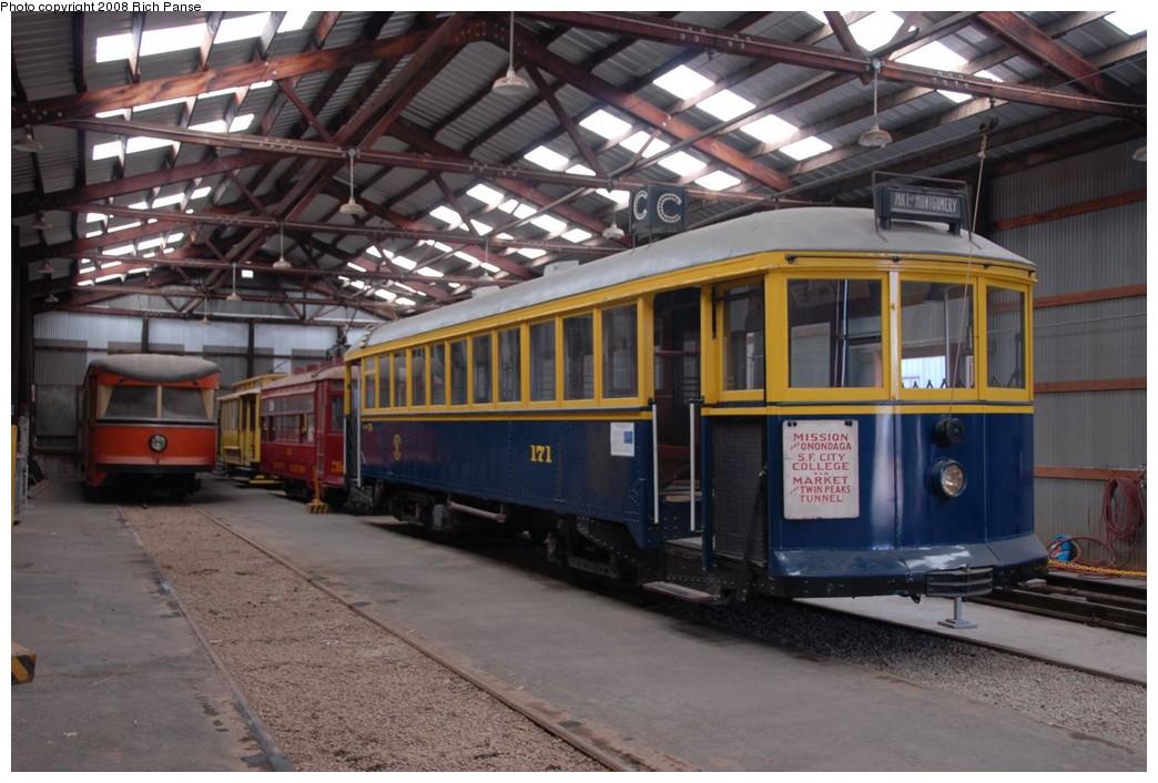 (211k, 1044x706)<br><b>Country:</b> United States<br><b>City:</b> Perris, CA<br><b>System:</b> Orange Empire Railway Museum <br><b>Car:</b> SF MUNI K-Type (Bethlehem Steel, 1923)  171 <br><b>Photo by:</b> Richard Panse<br><b>Date:</b> 6/15/2008<br><b>Viewed (this week/total):</b> 1 / 1356
