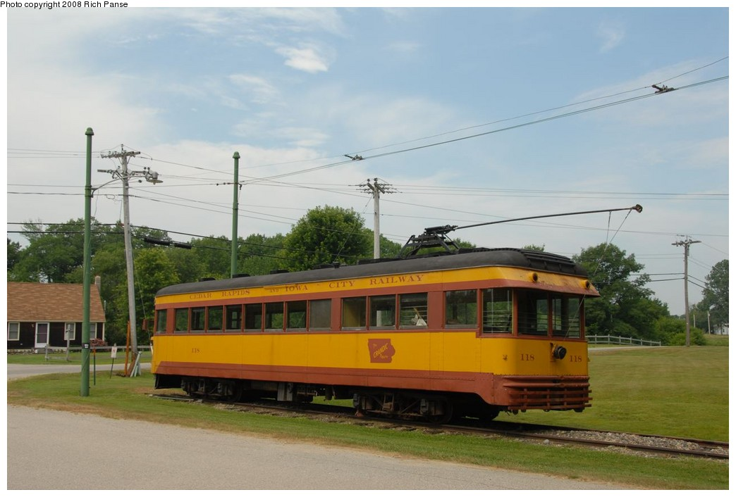 (172k, 1044x706)<br><b>Country:</b> United States<br><b>City:</b> Kennebunk, ME<br><b>System:</b> Seashore Trolley Museum <br><b>Car:</b>  118 <br><b>Photo by:</b> Richard Panse<br><b>Date:</b> 7/18/2008<br><b>Viewed (this week/total):</b> 0 / 651
