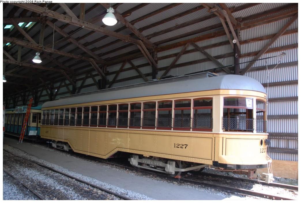 (217k, 1044x706)<br><b>Country:</b> United States<br><b>City:</b> Kennebunk, ME<br><b>System:</b> Seashore Trolley Museum <br><b>Car:</b>  1227 <br><b>Photo by:</b> Richard Panse<br><b>Date:</b> 7/18/2008<br><b>Viewed (this week/total):</b> 1 / 704