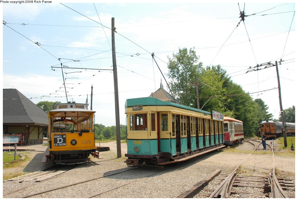(224k, 1044x706)<br><b>Country:</b> United States<br><b>City:</b> Kennebunk, ME<br><b>System:</b> Seashore Trolley Museum <br><b>Car:</b>  303/1700 <br><b>Photo by:</b> Richard Panse<br><b>Date:</b> 7/18/2008<br><b>Viewed (this week/total):</b> 0 / 479