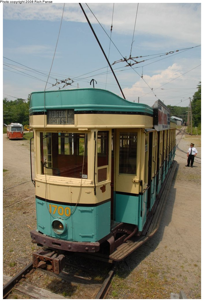 (184k, 706x1044)<br><b>Country:</b> United States<br><b>City:</b> Kennebunk, ME<br><b>System:</b> Seashore Trolley Museum <br><b>Car:</b>  1700 <br><b>Photo by:</b> Richard Panse<br><b>Date:</b> 7/18/2008<br><b>Viewed (this week/total):</b> 0 / 603