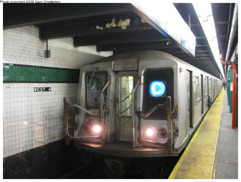 (126k, 820x620)<br><b>Country:</b> United States<br><b>City:</b> New York<br><b>System:</b> New York City Transit<br><b>Line:</b> IND 8th Avenue Line<br><b>Location:</b> West 4th Street/Washington Square <br><b>Route:</b> C<br><b>Car:</b> R-40 (St. Louis, 1968)  4418 <br><b>Photo by:</b> Gary Chatterton<br><b>Date:</b> 12/23/2008<br><b>Viewed (this week/total):</b> 1 / 1924